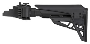 Advanced Technology B2101226 Strikeforce AK47  Polymer Folding Six Pos Stk Blk