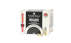 Federal AutoMatch Rimfire Ammunition AM22, 22 Long Rifle, Lead, 40 GR, 1200 fps