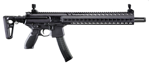 "Sig Sauer MPX Carbine MPXC9KMT, 9mm, 16"" BBL, Semi Auto, Telescoping Black Stock, Keymod Rail, Black Finish, 30 + 1 Rd"