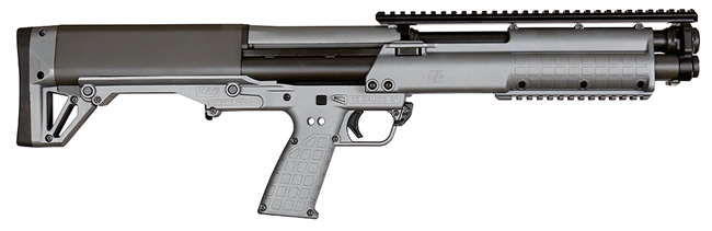 Kel Tec KSG BullPup Shotgun KSGSNGY, 12 GA, 18.5 in, 2.75 in Chmbr, Pump Action, Syn Stock, Sniper Grey Finish, 14 Rds, No Sights, Exclusive Color