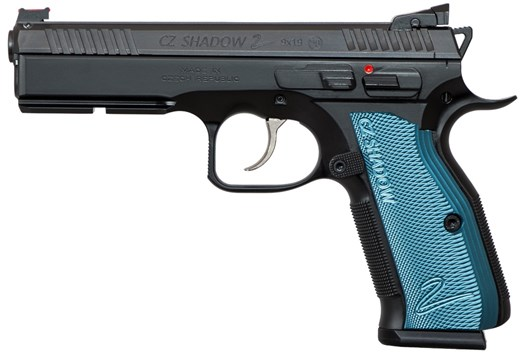 CZ 75 Shadow 2 Pistol 91257, 9mm, Black/Blue, 17+1