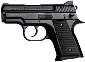 "CZ Model 2075 RAMI BD Pistol 91754, 9 MM, 3"" BBLl, Alloy Frame, Black Finish, Plastic Grips, Tritium Night Sights, 10Rd &14Rd Mags"