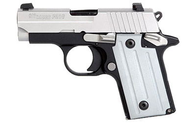 Sig Sauer Model P238 Pistol 238380TSSCA, 380ACP, 2.72 in, Plastic Grips, Duo Tone Finish, Fixed Night Sights, 6 Rd