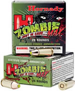 Hornady Zombie Max Ammunition 90083, 380 ACP, 1000 fps, 90 GR, Z-Max, 25 Rd/10Bx, 250 Rds