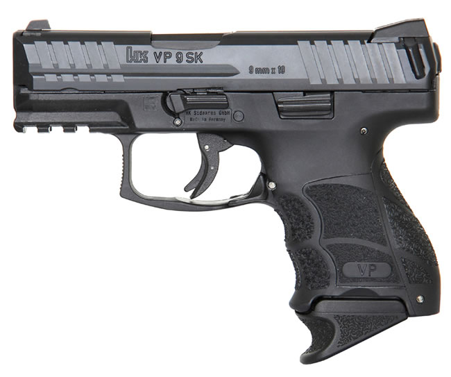 HK VP9 SK Subcompact Pistol 700009KA5, 9mm, 3.39 in BBL, Black Finish, 10+1 Rds