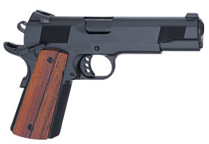 Les Baer 1911 SRP Government Pistol LBSRPG45, .45 ACP, 5 in BBL, Prem Chk Cocobolo Grips, Blue Finish, 8 Rds