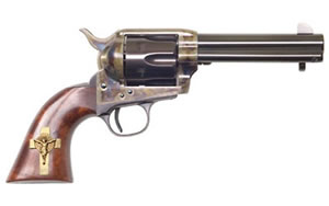 "Cimarron Holy Smoker Revolver PP310GCI01, 45LC, 4.75"" BBL, Blue Finish, 6Rd"