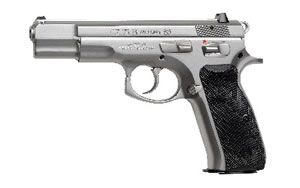 "CZ 75B Pistol 01128, 9MM, 4.6"" BBL, Matte Stainless Finish, 10Rd"