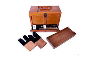 DAC GunMaster Tool Box Maintenance Kit, Universal Gun Cleaning, Wood Box, 17 Pieces TBX736-1