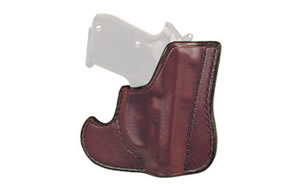 Don Hume 001 Front Pocket Holster, Fits Glock 43, Ambidextrous, Brown Leather J100306R