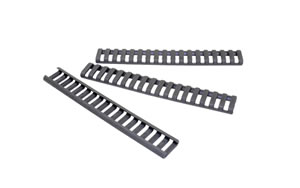Ergo Grip Low Pro Rail Covers, Fits 18 Slot Ladder, Gray Finish, 4-Pack 4373-3PK-GG