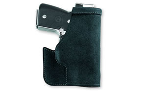 Galco Pocket Protector Holster, Fits J Frame, Ambidextrous, Leather Material, Black Finish PRO158B