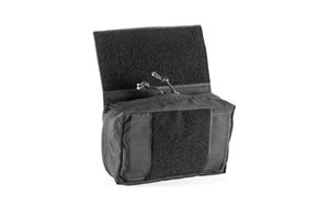 Haley Strategic Partners Pouch, Drop Down to Store Number of Tools, Lined with Loop to Secure Additional Organizers, Black Finish MMHBLK