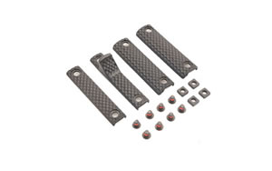 Knights Armament Company URX 3/3.1 4 Piece Rail Panel Kit, Black Finish, 22-Hole Panels, 1 2-Hole Panel, 1 2-Hole Handstop,8Screws, 4 Backing Nuts 30408-BLK
