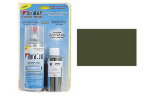 DuraCoat - LCW Manufacturing Two-Part Aerosol Finishing Kit, Tactical OD Green Finish, 12oz DuraCoat, 6oz TruStrip, Scrub Pad DCAEKT2