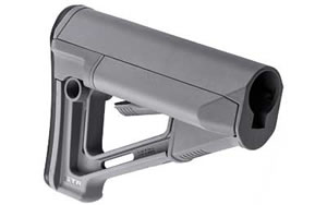 Magpul STR Stock, Fits AR-15, Mil-Spec, Gray Finish MAG470-GRY