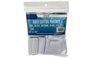 Gunslick Cleaning Patches, All Calibers, Cotton, 250 Per Pack 20019