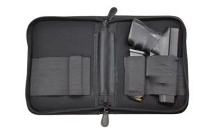 PS Products Beside Gun Bracket with Nylon Pistol Case, Large, Black HMNPCS