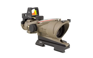 Trijicon ACOG ECOS Rifle Scope, 4X32, Red Crosshair Reticle, Includes 4.0 MOA RMR, Dark Earth Finish TA31ECOS