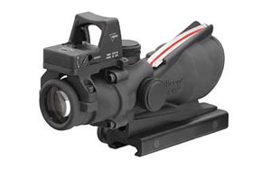 Trijicon ACOG Rifle Scope, 4X32, Red Dual Donut .223 Reticle, Includes 3.25 MOA RMR, Matte Finish TA31RMR