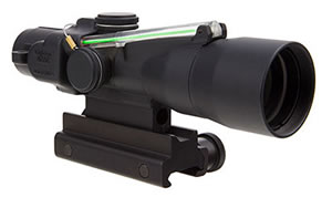Trijicon ACOG, Compact, 3x30, Dual Illuminated Green Horseshoe/Dot 5.56x45mm/62gr. Ballistic Reticle, With Colt Knob Thumbscrew Mount TA33-C-400129