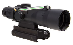 Trijicon ACOG, Compact, 3x30, Dual Illuminated, Green Crosshair 300BLK 115/220gr. Ballistic Reticle, With Colt Knob Thumbscrew Mount TA33-C-400163