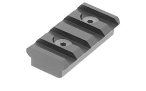 "Leapers - UTG Keymod Picatinny Rail Section, 1.57"", 4 Slots, Black MTURS04S"
