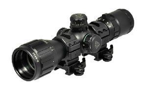 "Leapers - UTG BugBuster Rifle Scope, 3-9X 32, 1"", Red/Green Illuminated Mil-dot Reticle, with Rings, Black Finish SCP-M392AOLWQ"