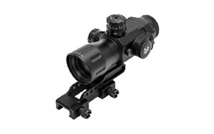 Leapers - UTG AccuShot, Compact Prismatic Rifle Scope, 4X32 T4, 36-Color T-Dot, TS Platform, EZ-TAP IE Illumination, Black Finish, 34MM, Mounting Accessories Included SCP-T4IETDQ