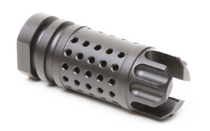 Griffin Armament M4SD Flash Compensator, 556NATO, 1/2 x 28 RH, Black Finish, Interfaces w/Griffin M4SD Series of Silencers XHP556FC
