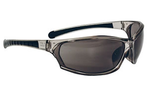 Radians Barrage Glasses, Gray Frame, Amber Anti-Fog Lenses BE0621CS