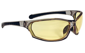 Radians Barrage Glasses, Gray Frame, Smoke Anti-Fog Lenses BE0641CS