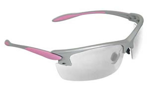 Radians Glasses, Silver and Pink Frame, Clear Lens PG0810CS