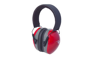 Radians Folding Terminator Earmuff, Red , NRR 29 TR0360CS