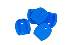 TangoDown Base Pad Vickers Tactical for Glock Tactical Magazine Floor Plates for 9mm, 40s&w, 357sig, 45GAP Blue, Five Pack VTMFP-001-BLU
