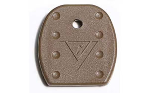 TangoDown Vickers Tactical Magazine Floor Plate, For Glock 9MM, 40S&W, 357Sig, 45GAP, Tan, Five Pack VTMFP-001-BRN