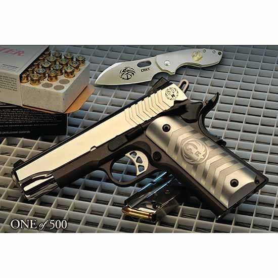 Ruger 1911 Commander US Navy Special Warfare Edition Talo 6743, 9mm, 4.25, 9 Rd