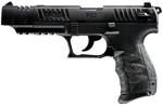 Walther Model P22 Target Pistol 5120302, 22 LR, 5 in BBL, Sngl / Dbl,  Polymer Grips, 3-Dot Adj Sights, Blk Finish, 10 + 1 Rds