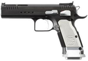 EAA Witness Limited Custom Xtreme Pistol 610310, 9mm, 4.75 inch BBL,  Black Ceramic Coating, White Grips, 17 Rds, Tanfoglio's Custom Shop Pistol